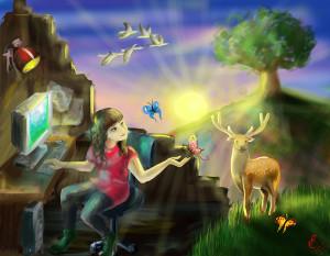 """Гладкова Ксения_15лет_ Оглянись-мир прекрасен_ """"Экология Планеты - 2014"""""""