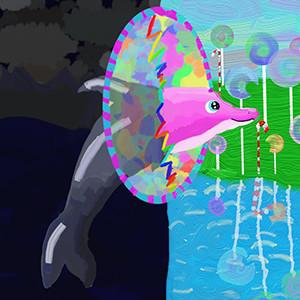 Дмитриева Кристина, 12 лет.  Приключения дельфинёнка