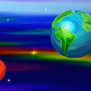 Солошенко Илона,10 лет, Земля и Марс