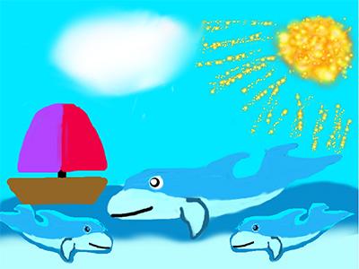 Ларионова Мария_9 лет__А дельфины добрые