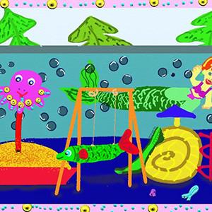 Рымарь-Харитонова Лилия . 9 лет.  Детская площадка Подводное царство