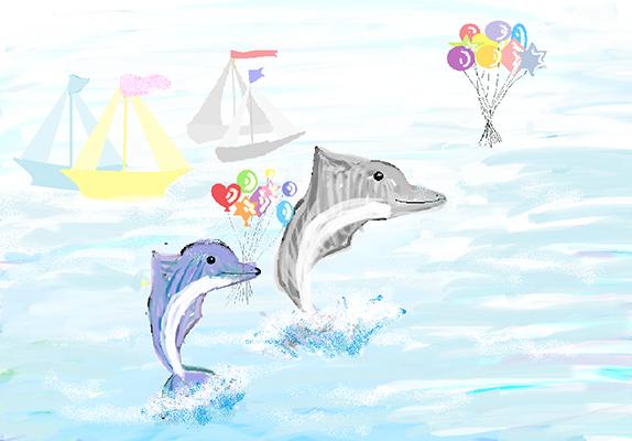 Прусакова Саша_ 11 лет_ Приключения дельфиненка