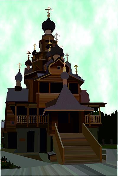 Чернышева Ксения _ 13 лет_ Храм в Верхней Санарке