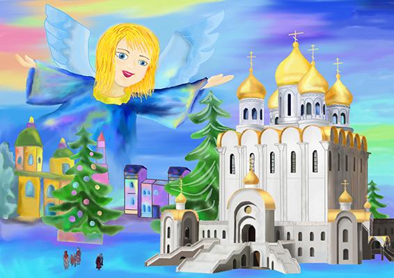 Махиня Евгения _14 лет_ Рождественский ангел