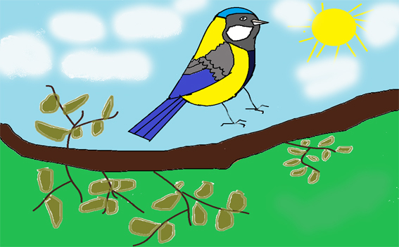 Сальников_Даниил_9_лет_Птичка-невеличка желтая синичка