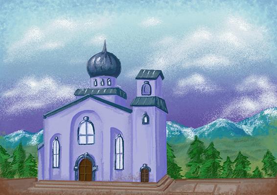 Бирюкова Мария_16лет_ Храм в Синегорье