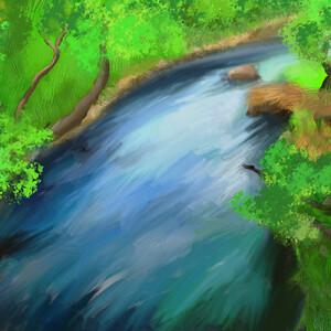 Князева Ксения_14 лет Горная река