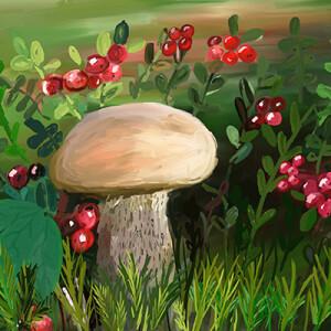Токарева Екатерина_11 лет Под сосною на поляне вырос беленький грибок